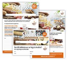 Beställningslista, vykort och reklamblad