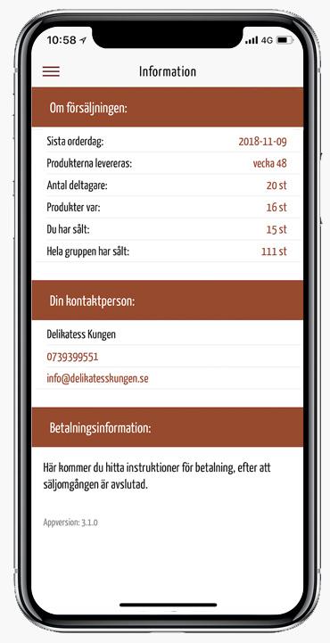 Information appen