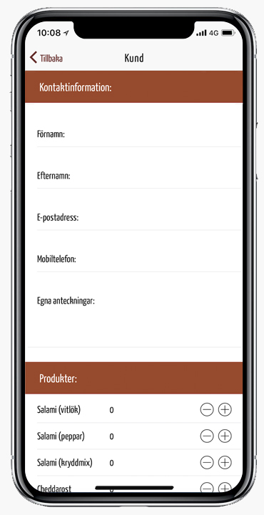 Lägga till kund app